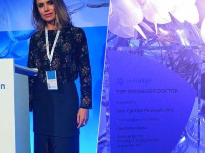 Dra. Cynthia Veit recebe homenagem de TOP INVISALIGN DOCTOR