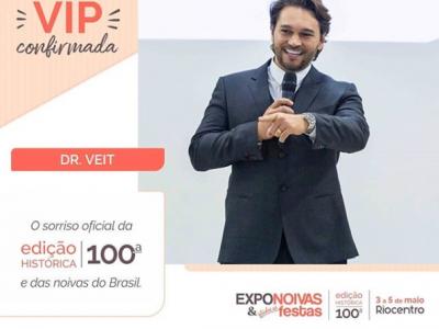 Dr. Veit confirma sua participação na 100ª edição do Expo Noivas
